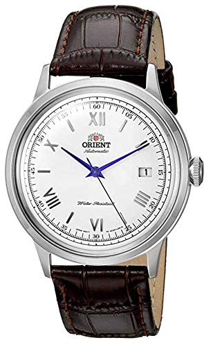 Orient Men's 2nd Gen. Bambino Ver. 2 Stainless Steel Japanese-Automatic Watch with Leather Strap, Brown, 21 (Model: FAC00009W0)