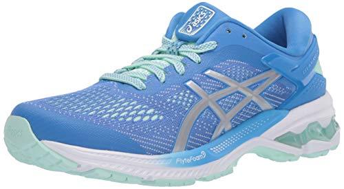 ASICS Women's Gel-Kayano 26 Running Shoes, 9M, Blue Coast/Pure Silver