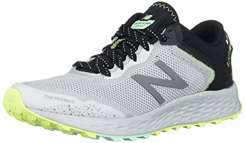 New Balance Women's Fresh Foam Arishi Trail V1 Running Shoe, Light Aluminum/Black/Neo Mint, 7 Wide