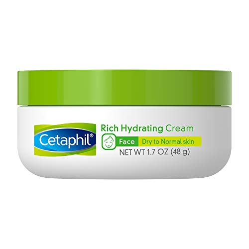 Cetaphil Rich Hydrating Cream with Hyaluronic Acid | 1.7 Oz | Dermatologist Recommended Brand