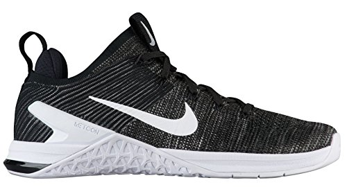 Nike Metcon DSX Flyknit 2 Womens Trainers Cross Training Shoes (12, Black/White)