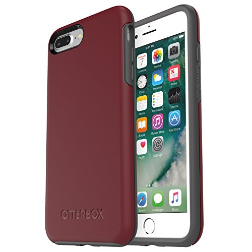 OtterBox SYMMETRY SERIES Case for iPhone 8 PLUS & iPhone 7 PLUS (ONLY) - Frustration Free Packaging - FINE PORT (CORDOVAN/SLATE GREY)