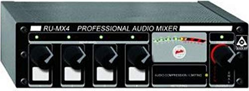 RDL RU-MX4T Mixer 4 Channel, Output Isolation Transformer, Mic or Line XLR Output, Switchable - Power Supply Included