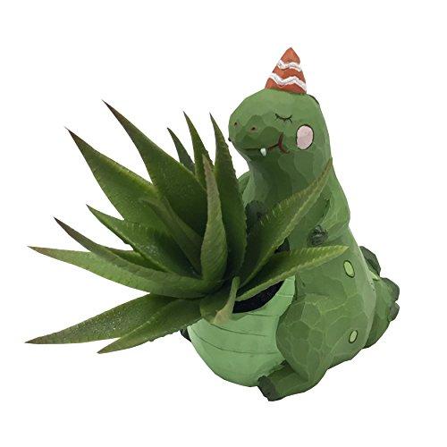 Cuteforyou Cute Animal Shaped Cartoon Home Decoration Succulent Vase Flower Pots (Dinosaur)