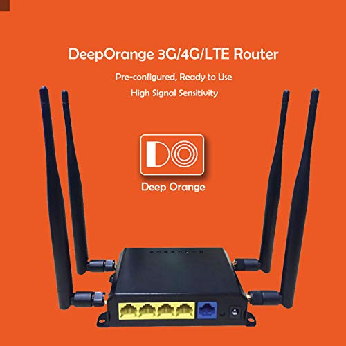 DO 300Mbps 3G 4G LTE Modem Wi-Fi Wireless Router for RV or Mobile Home with Strong Signal, USB Port and SIM Card Slot with External Antennas for USA/Canada/Mexico SIM Card