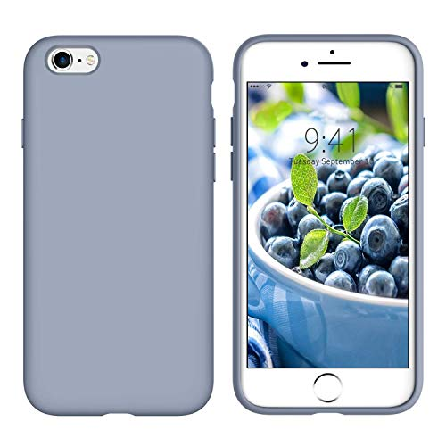YINLAI iPhone 6S Plus Case iPhone 6 Plus Case Silicone Slim Fit Non Slip Grip Soft Rubber Cover Shockproof Protective Phone Case for iPhone 6 Plus/iPhone 6S Plus 5.5',Lavender Gray