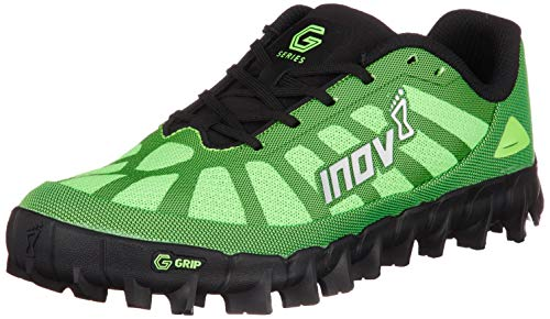 Inov-8 Mudclaw 275 - Trail Running OCR Shoes - Soft Ground - for Obstacle, Spartan Races and Mud Running - Green/Black - 4
