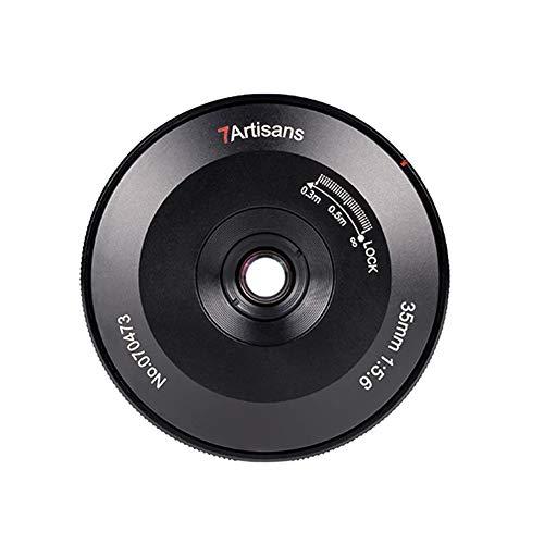 7 Artisans 35mm F5.6 Full Frame Format Pan-Focus Fixed Manual Focus Pancake Lens for Nikon Z Mount Camera Black