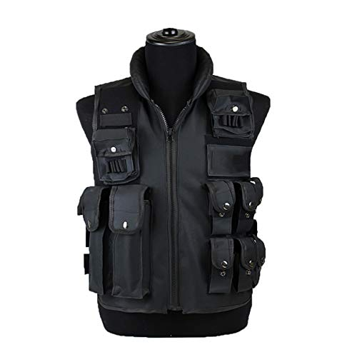 Sutekus Tactical Vest for Outdoor Paintball Airsoft Game Combat Training & Costume