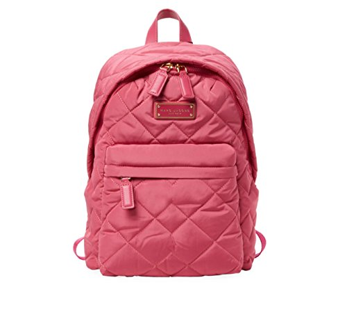 Marc Jacobs Large Quilted Nylon Backpack, Begonia