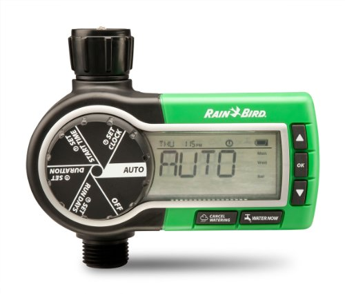 Rain Bird 1ZEHTMR Professional Grade Electronic Digital Hose End Timer/Controller, One Zone/Station, Battery Operated