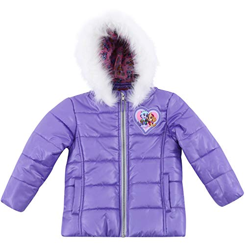 Girls' Paw Patrol Warm Winter Puffer with Hood Jacket Coat 6X