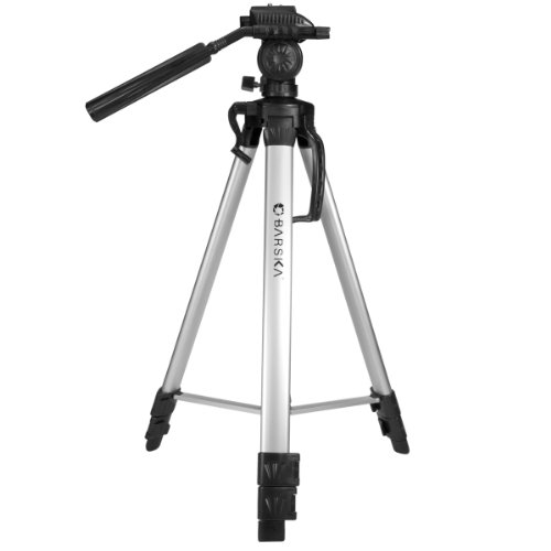 BARSKA Deluxe Tripod Extendable to 63.4' w/ Carrying Case