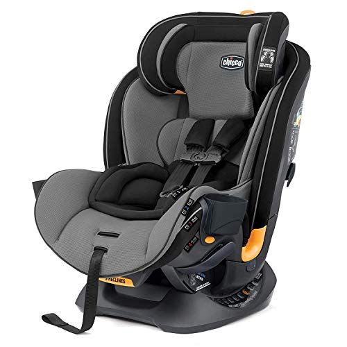 Chicco Fit4 4-in-1 Convertible Car Seat | Easiest All-in-One from Infant to Booster | 10 Years of Use - Onyx