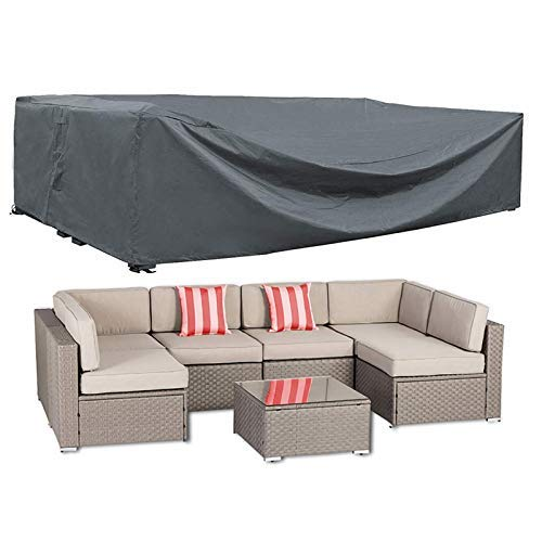 "AKEfit Patio Furniture Cover Outdoor sectional Furniture Covers Waterproof Dust Proof Furniture Lounge Porch Sofa Protectors D126""x W64""x H29"""