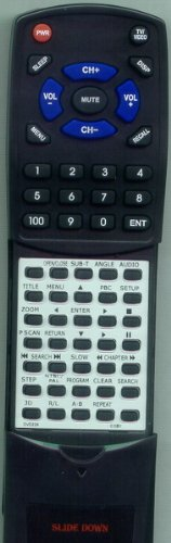 Replacement Remote Control for COBY DVD524, DVD224