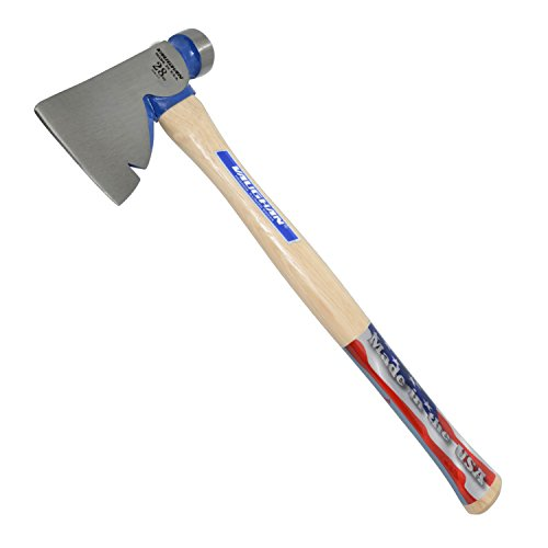 Vaughan RB 28-Ounce Rig Builders Hatchet, Hickory Handle for heavy construction, 17-Inch Long.