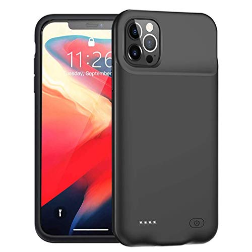 Battery Case for iPhone 12 Pro/iPhone 12, Enhanced 7000mAh Portable Protective Charging Case Compatible with iPhone 12 Pro/12 (6.1 inch) Rechargeable Extended Battery Charger Case (Black)
