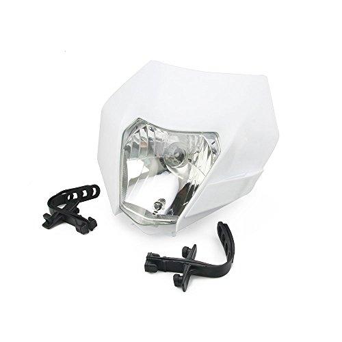Universal Headlight Head Lamp Light Fairing Mask Day Running Light Turn Signal Lights- White