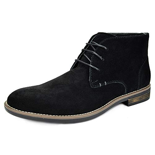 Bruno Marc Men's Black Casual Suede Leather Chukka Dress Boots Lace Up Snow Winter Desert Boots Size 10.5 M US URBAN-01