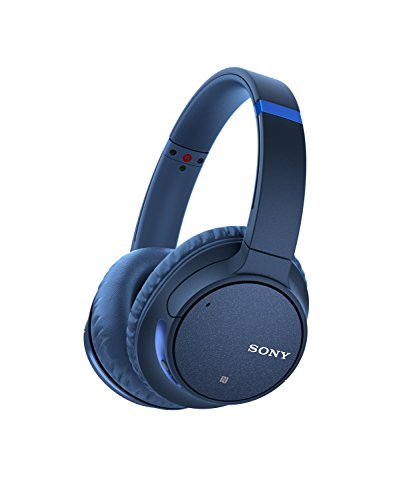 Sony Noise Cancelling Headphones WHCH700N: Wireless Bluetooth Over the Ear Headset with Mic for phone-call and Alexa voice control - Blue