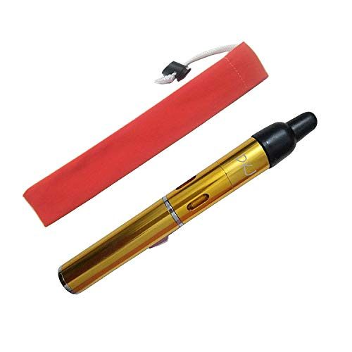 Butane Torch Lighters, Long Lighters FengFang Portable Metal All in One Pipe Built-in Detachable Inflatable Lighter (Gold)