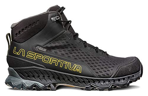 LA SPORTIVA Stream GTX Hiking Shoe, Black/Yellow, 38