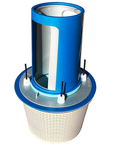 SkimDoctor 2.0 Pool Skimmer Basket TURBOCHARGER with Non-Corrosive Fittings and FREE Skimmer Sock for easy removal of debris. Fits most inground pool baskets on the market, like Hayward, Pentair.