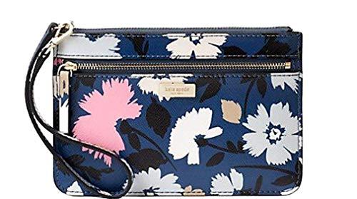 Kate Spade Share Street Gala Floral Front Pocket Wristlet Clutch Bag - Blue Multi