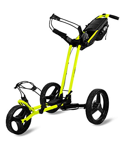 Sun Mountain Golf Pathfinder 3 3-Wheel Push Cart - Atomic Yellow
