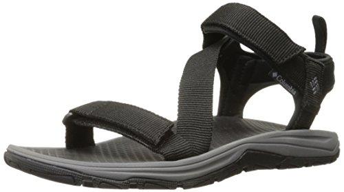 Columbia Men's Wave Train Sandal, black, city grey,11 Regular US