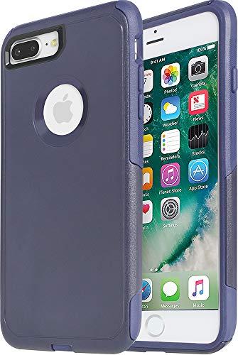 Krichit Commuter Series Case for iPhone 8 Plus Commuter Case Heavy Duty Case iPhone 7 Plus Case (Commuter Maritime Blue, iPhone 7/8 Plus)