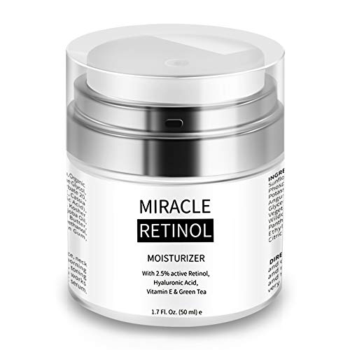 Retinol Cream for Face - Face Moisturizer for Anti Aging, Wrinkle & Acne Face Cream with Hyaluronic Acid Night Cream for All Skin (1.7oz)
