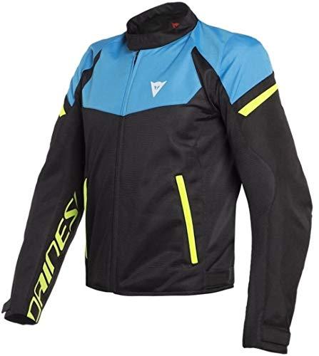 Dainese Bora Air Jacket - Black/Fire Blue/Fluo Yellow (Euro 58 / US 48)