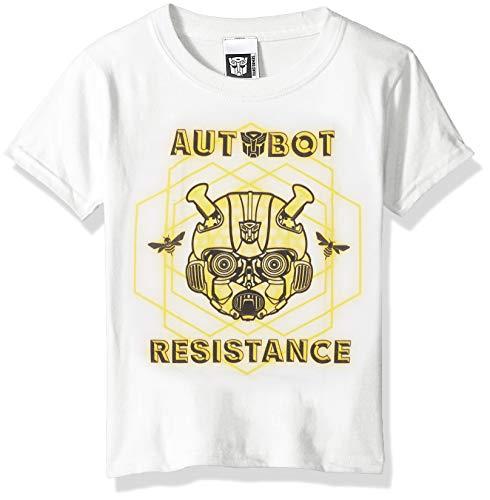 Transformers Big Bumblebee Movie Autobot Resistance Boys Tee, White, M-10/12