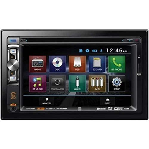 Dual XDVD256BT Digital Multimedia 6.2' LED Backlit LCD Touchscreen Double DIN Car Stereo with Built-in Bluetooth, CD/DVD, USB, microSD & MP3 Player