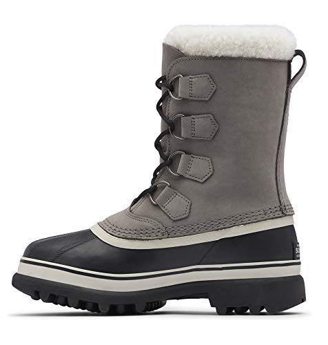 SOREL Women's Caribou Boot — Shale, Stone — Waterproof Leather Snow Boots — Size 8.5