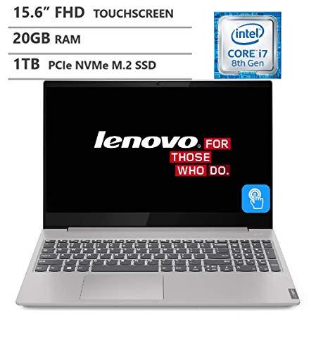 Lenovo Ideapad S340 Laptop, 15.6' Full HD IPS Touchscreen, Intel Core i7-8565U Processor up to 4.60GHz, 20GB DDR4 RAM, 1TB PCIe NVMe M.2 SSD, HDMI, Wireless-AC, Bluetooth, Windows 10 Home, Silver