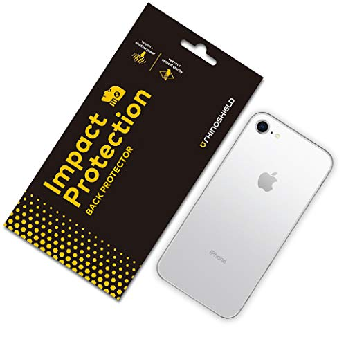 RhinoShield Back Protector compatible with [iPhone SE2 / SE (2020) / 8/7] | Impact Protection - High Strength Impact Damping/Dispersion Technology - Clear and Scratch
