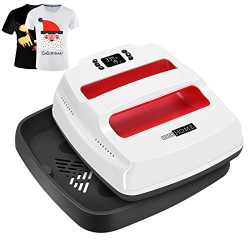VIVOHOME 2 in 1 9''x 9'' Digital Handheld Heat Press Machine Transfer HTV Vinyl for T Shirts Printing and Ironing (Santa Red)