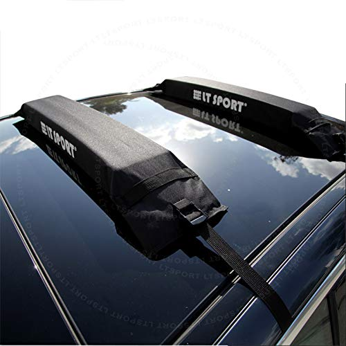 LT Sport Soft Roof Rack Cross Bars Rooftop Cargo Carrier Tie Down Pads Surf Paddle Board