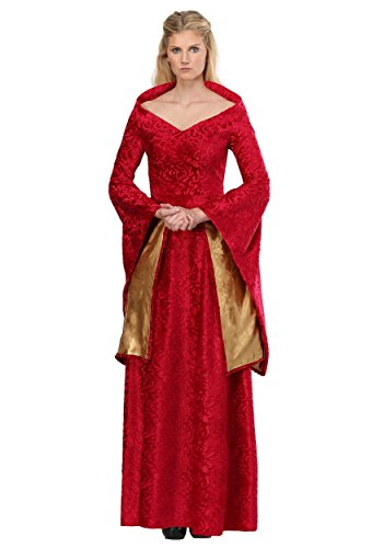 Lion Queen Womens Costume Medieval Costume Red Dress for Women Small