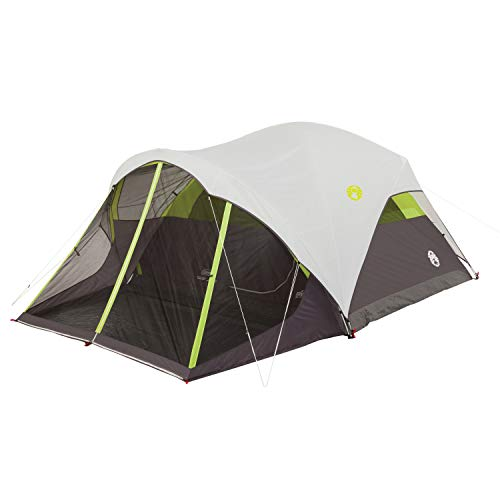 Coleman Steel Creek Fast Pitch Dome Tent with Screen Room, 6-Person , White, 10' x 9'