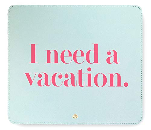 Kate Spade New York I Need A Vacation Mouse Pad Light Blue One Size