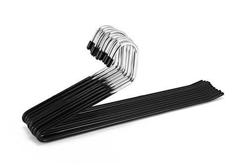 Jeronic Pant Hangers, 20 Pack Steel, Black