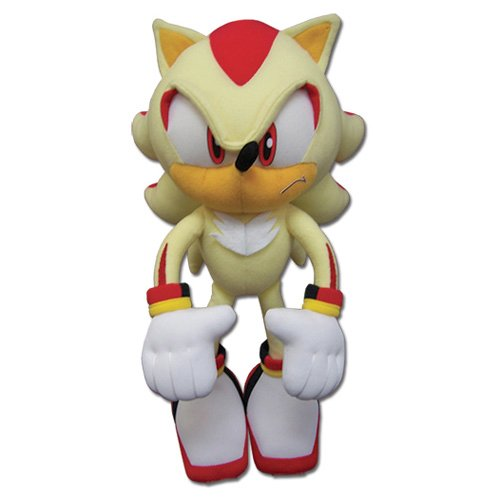 GE Animation Great Eastern GE-52631 Sonic The Hedgehog Super Shadow Stuffed Plush, 12'