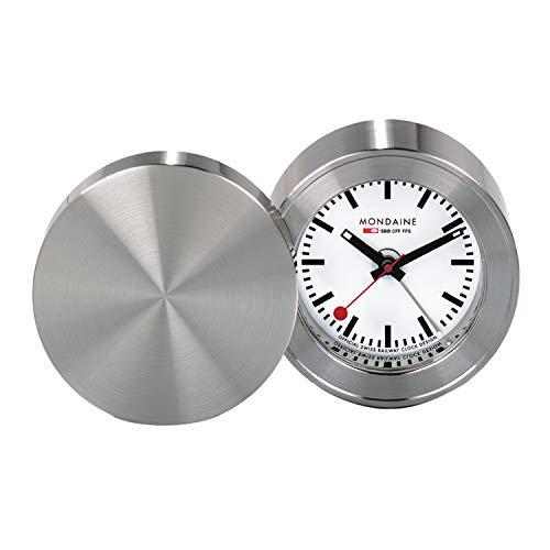 Mondaine MSM.64410 SBB Stainless Steel Alarm Clock
