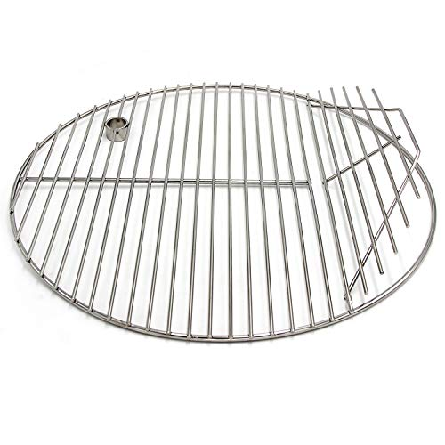 Hongso 19.5' 304 Stainless Steel Round Cooking Grill Grates, Cooking Grid for Akorn Kamado Ceramic Grill, Char-Griller 16620, 6719, 6520, 16820, 6020 and Other Grills, 20 inch Grill Grate, SCG195