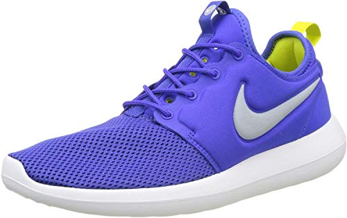 Nike Men's Low-Top Trainers, Blue Paramount Blau Wolf Grau Weiß Elektrolime, 43