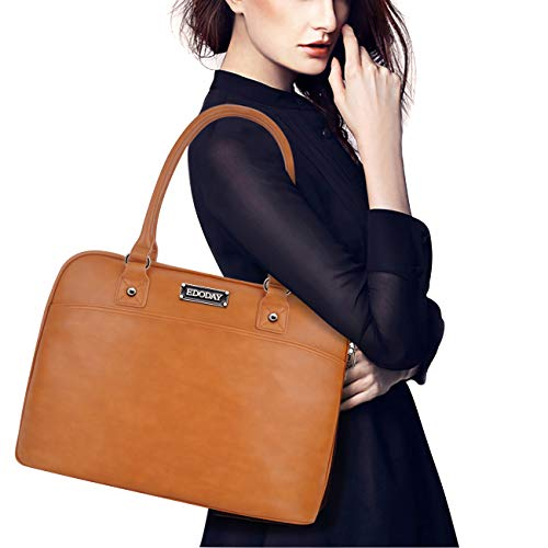 Laptop Tote Bag,15.6 Inch Laptop Bag for Women Classic Laptop Case Work Bags for Women,Brown